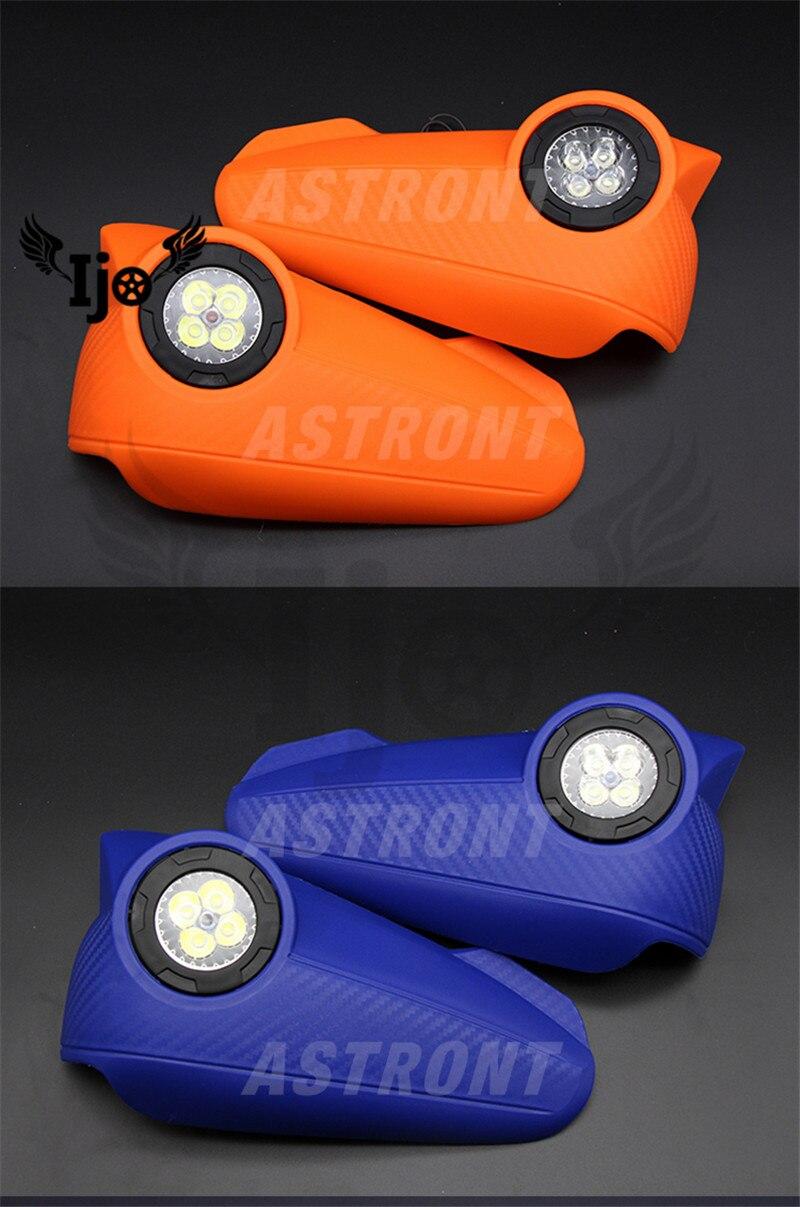 Accessoires moto moto garde-mains pour ktm exc husqvarna moto cross pitbike café racer LED accessoires en fibre de carbone garde-mains moto