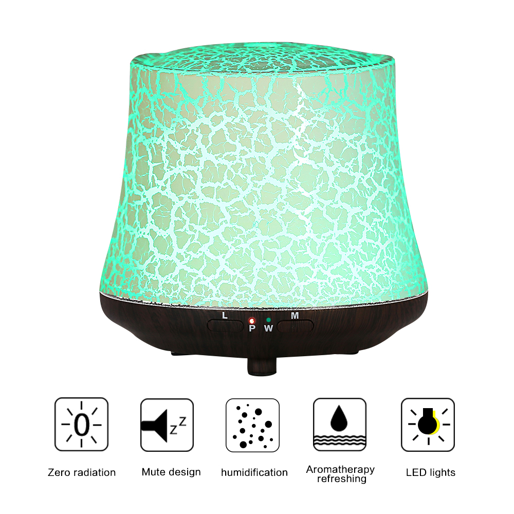 USB Air Humidifier Ultrasonic Night Light Mist Maker Aroma Diffuser Essential Oils Aromatherapy Lines Fogger For Home 1709