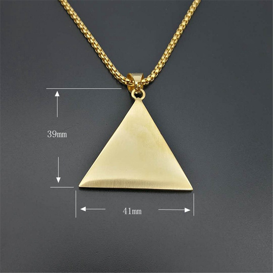bfc277a134c Hip Hop Ancient Egypt Pyramid Eye Pendant Necklace For Women Men Gold Color  Stainless Steel Iced Out Egyptian jewelry-in Pendant Necklaces from Jewelry  ...