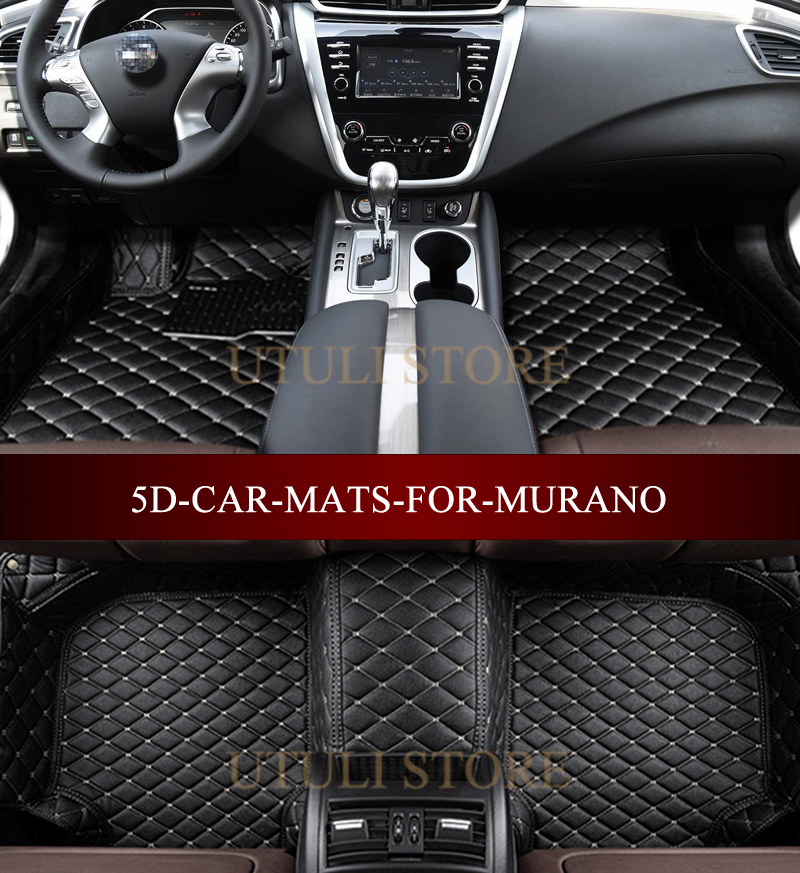 Leather Car floor mats for NISSAN MURANO SUV Cross Cabriolet 3D custom fit car all weather carpet floor liners foot mats