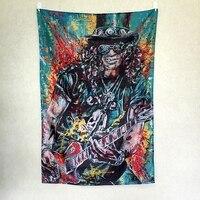 Slash Guns Roses tamaño Grande banda de rock retro Regístrate poster 56X36 pulgadas HD Banderas Banderas de tela arte de la sala de estudio decoración