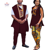 Dashiki African Wax Print Clothes for Couple Plus Size African Batik Two  Piece Set Crop Top f0d6b00f9aa2