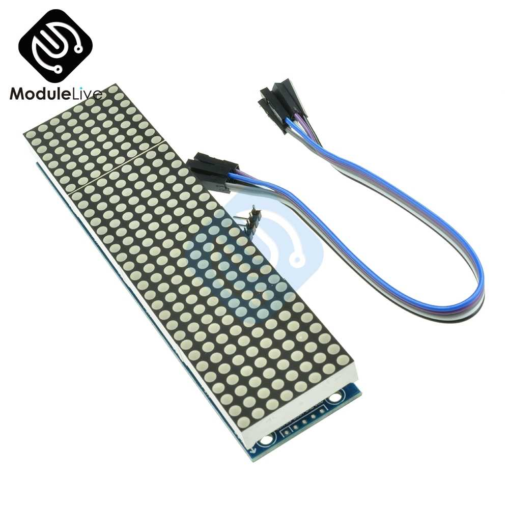 2pcs Dot Matrix Module 4 in one display Microcontroller Module max7219 Arduino