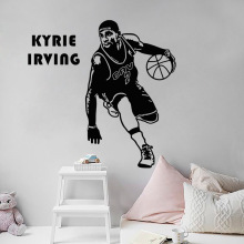 Basketball star Kyrie Irving idol wall sticker boys logo bedroom art deco vinyl decal living room mural LQ14