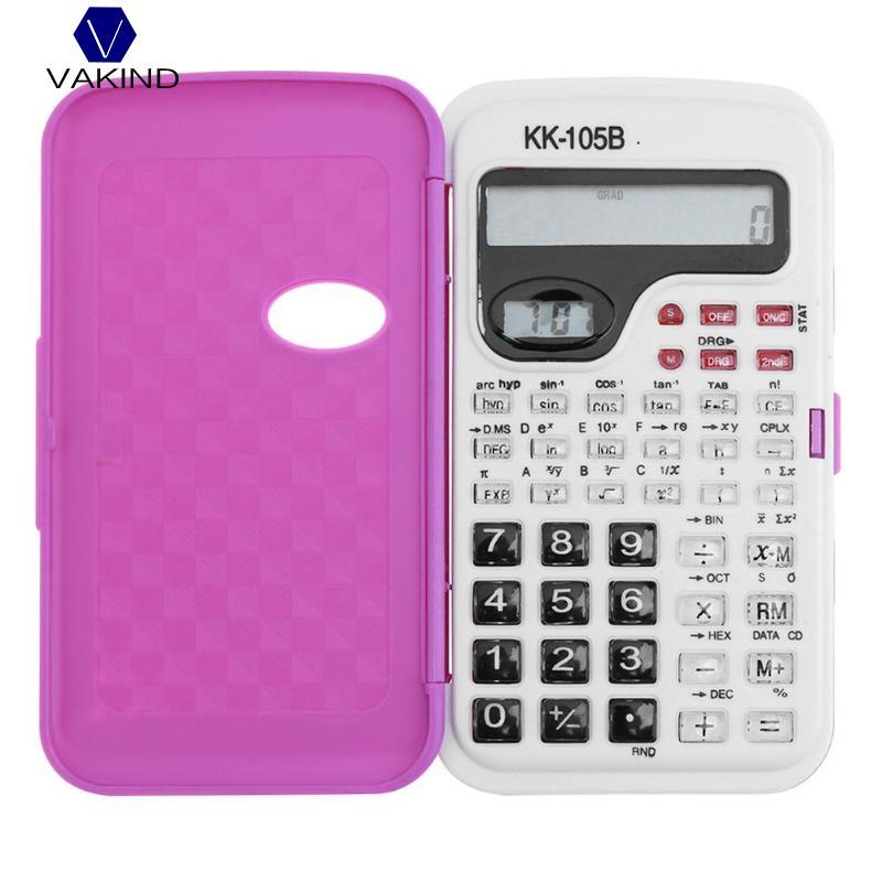 VAKIND 1 шт. ручной Student научный калькулятор 2 линии Дисплей Портативный калькулятор для школы Конференц-13x7,2 см