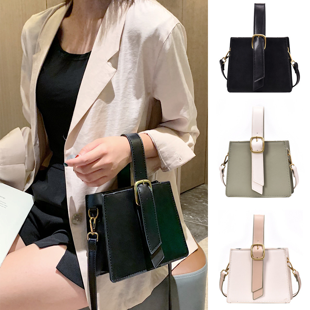 Retro Fashion Female Square Bag 2019 New High quality PU leather Women's Designer Handbag Chain Shoulder Messenger bags(China)