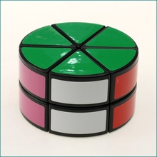 Brand New DianSheng two layer cylinder 2x2 Layer Petal Column Magic Cube Speed Puzzles Educational Toys
