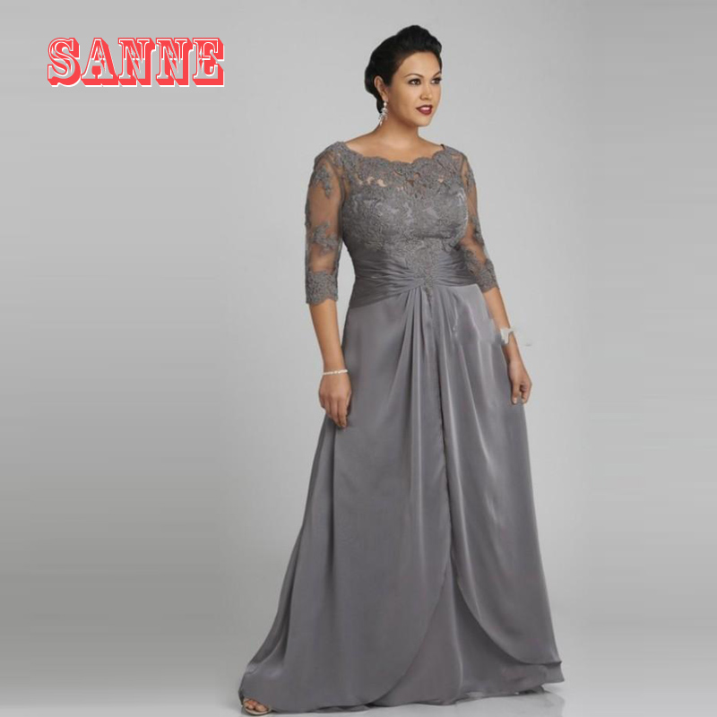 Long Mother Of The Bride Dresses 2016 Floor Length Silver