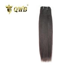 Qwbライト焼きフリーコンビネーション 12 〜 24 professional比ブラジルバージン毛自然色 100% 人毛延長