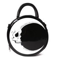 Moon Skull Circular Design Women Shoulder Bag Leather Women's Crossbody Messenger Bags Ladies Purse Female Round Bag Handbag