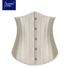 Satin Underbust Corset Waist Corsets and Bustiers Waist Cincher for Women 26 Steel Boned Slimming Corselete