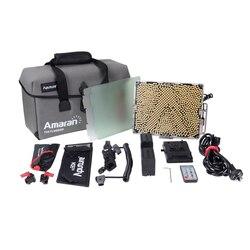 Aputure Tri-8c panel Light CRI 95+ Color Temperature 2300k-6800K fill light easy box 2 batteries with V mount video lamp