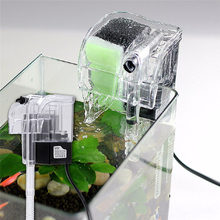 New Arrival Mini Aquarium Power Filter Hang On Slim Filter Waterfall Water Circulation Transparent Color A2