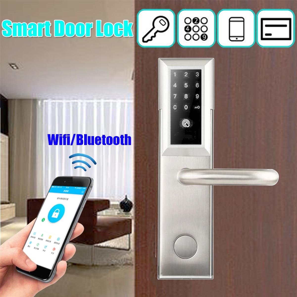 Prise de cadenas intelligente étanche pratique serrure de porte intelligente APP Mobile Durable Wifi bluetooth mot de passe serrure de porte intelligente