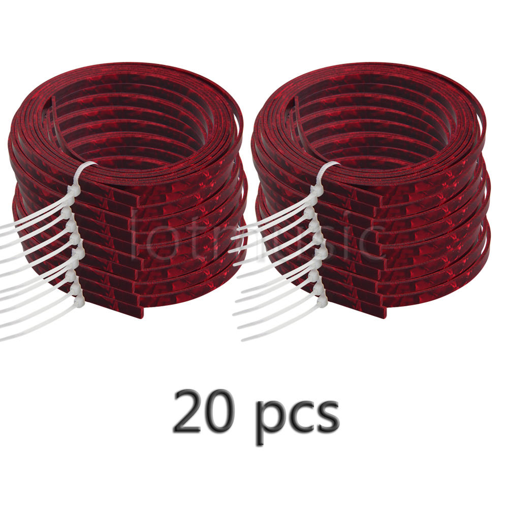 20pcs Celluloid Acoustic Guitar Binding Purfling Strip 1650 x 5mm x 1.5mm Red Pearl