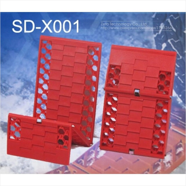 2x Automobile/Car Outdoors Foldable Tyre Grip Tracks Traction Tracks Mats/Escaper/ Snow Chains Bailout Plate for Emergency