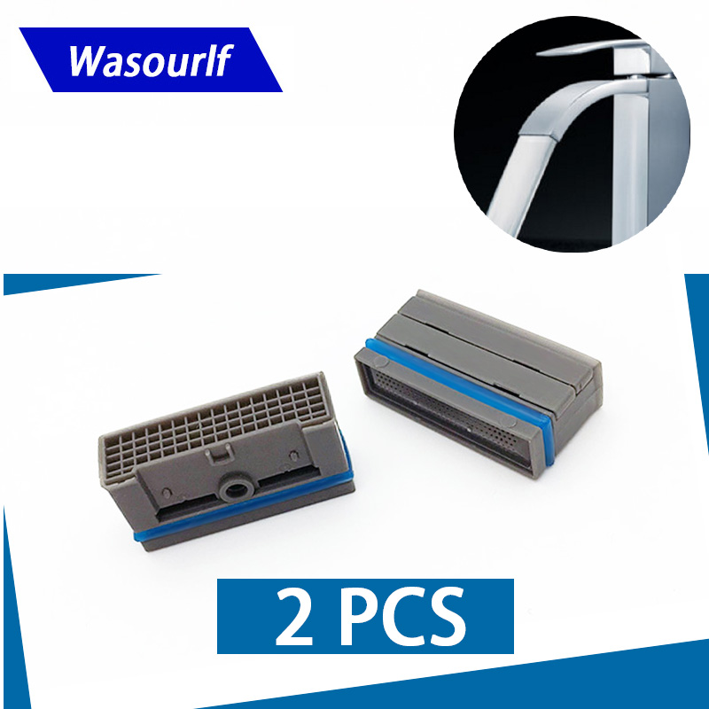 WASOURLF 2PCS Square Aerator Bubbler Male Thread Water Saving For Faucet Tap Bathroom Kitchen