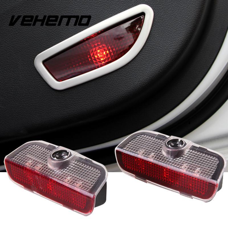 Автомобиль Vehemo 1 пара светодиодов предупреждение двери свет проектора с проводов для VW Пассат В6 Гольф 6/7 куб. 2009-2012 Гольф 6 7 Tiguan в Сирокко