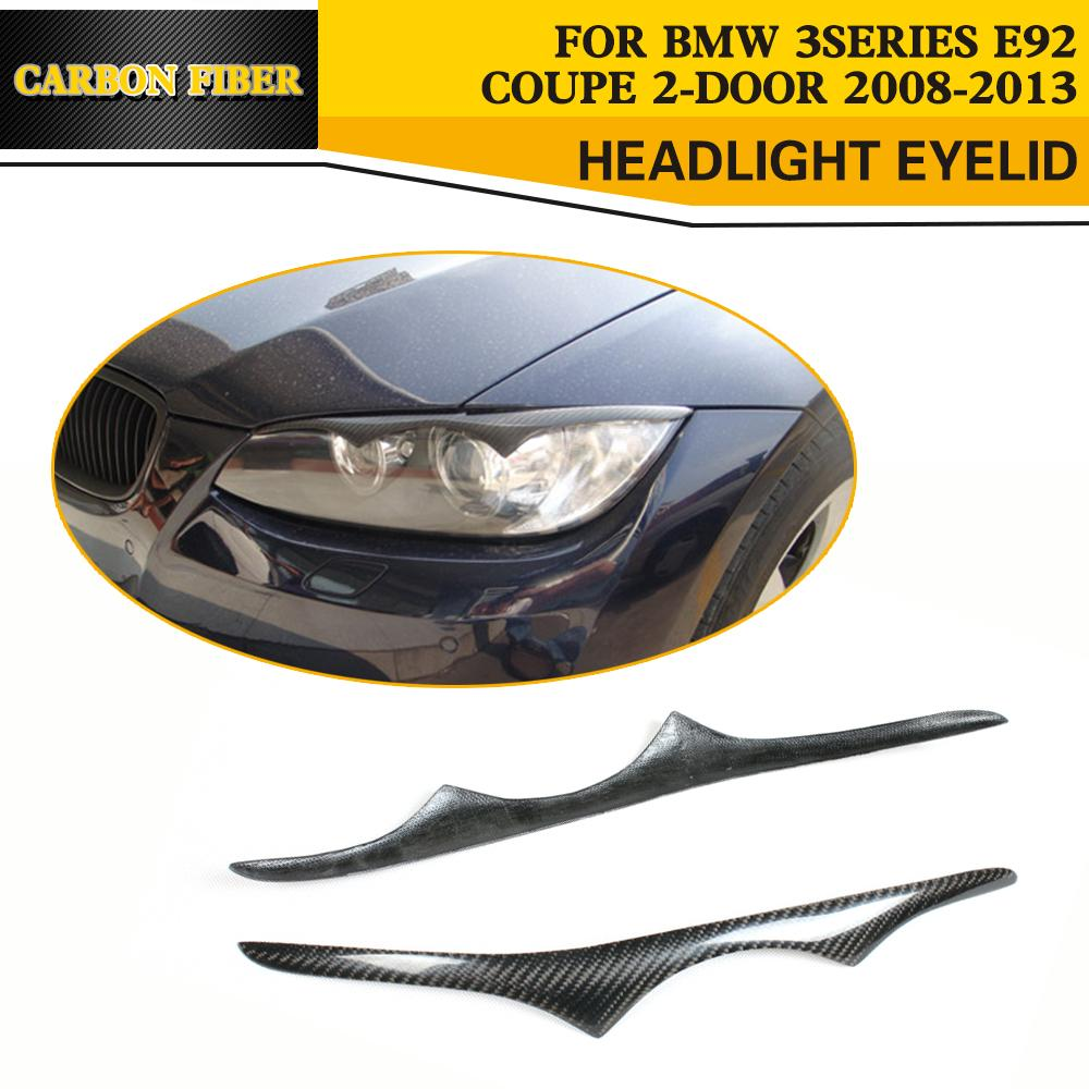 Carbon Fiber Car Eyelid Trim Eyebrows for BMW E92 E93 M3 Coupe 2008-2013
