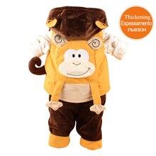 2016 Новая Импортная Обезьяна Детская Одежда 3 шт. Теплые и удобные Детские Зимние Пальто