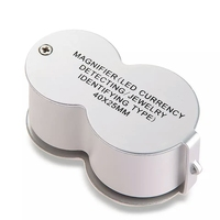 40 Trade Jeweler Loupe With 2 Lamp LED 1 Folding Magnifier Lamp Xj