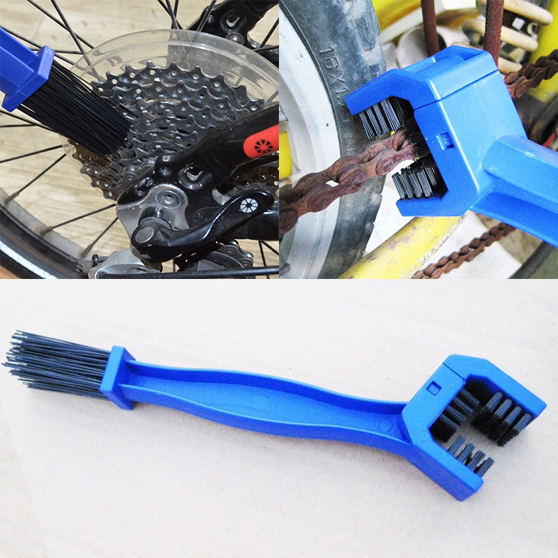 Mayitr Blue Cleaning Brush Universal Cycling Motorcycle Bicycle Gear Chain Cleaning Brush Dirt Rust Brush Maintenance Tools ...