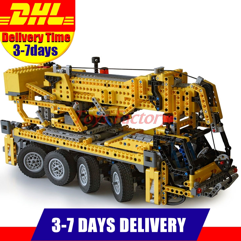 DHL Free LEPIN 20068 Technic Mechanical Series Classic Crane Educational Building Blocks Bricks Toys Model Clone 8421 1884pcs