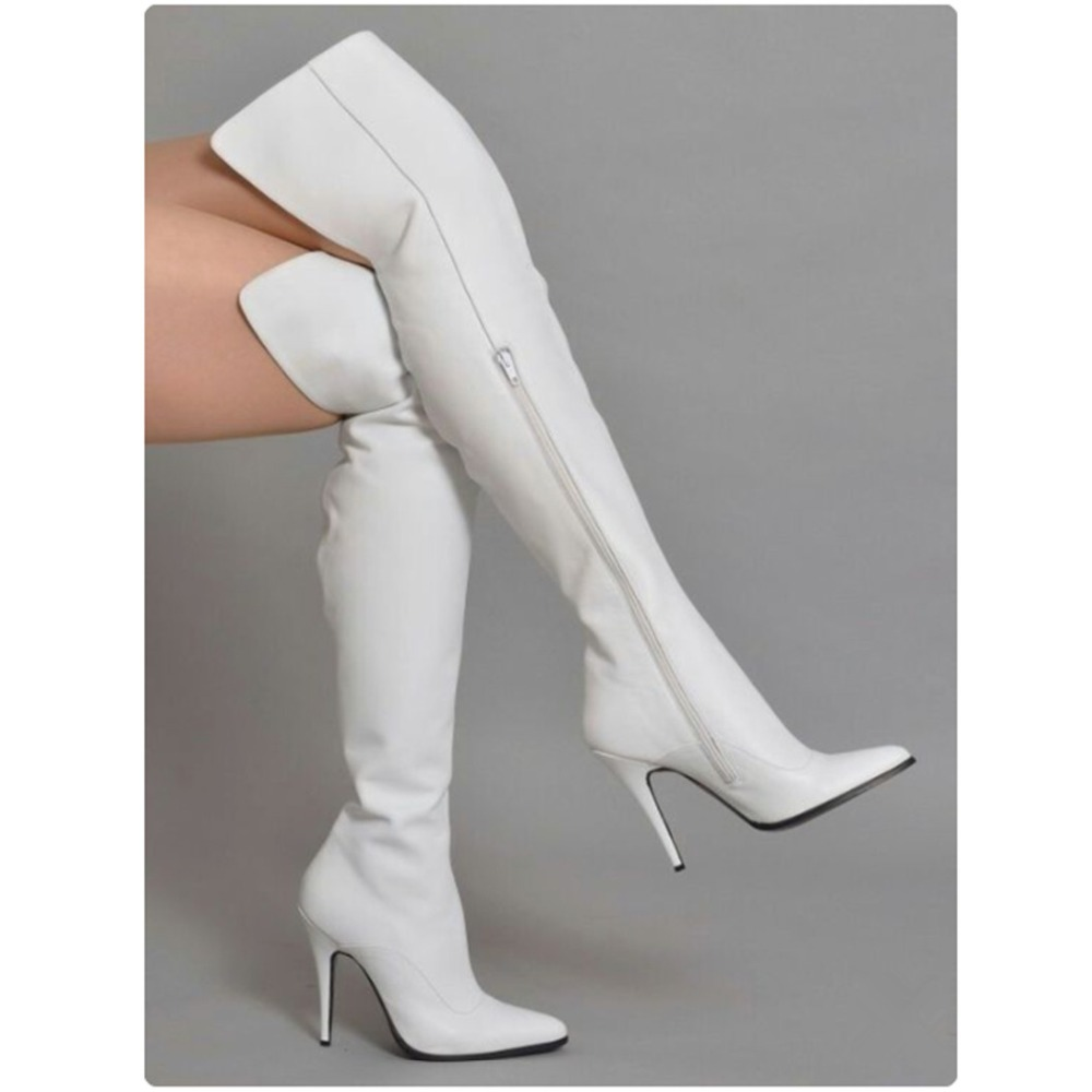 Women/'s Over Knee High Thigh Boots Stilettos Pointy Toe Back Zip Shoes Clubwear