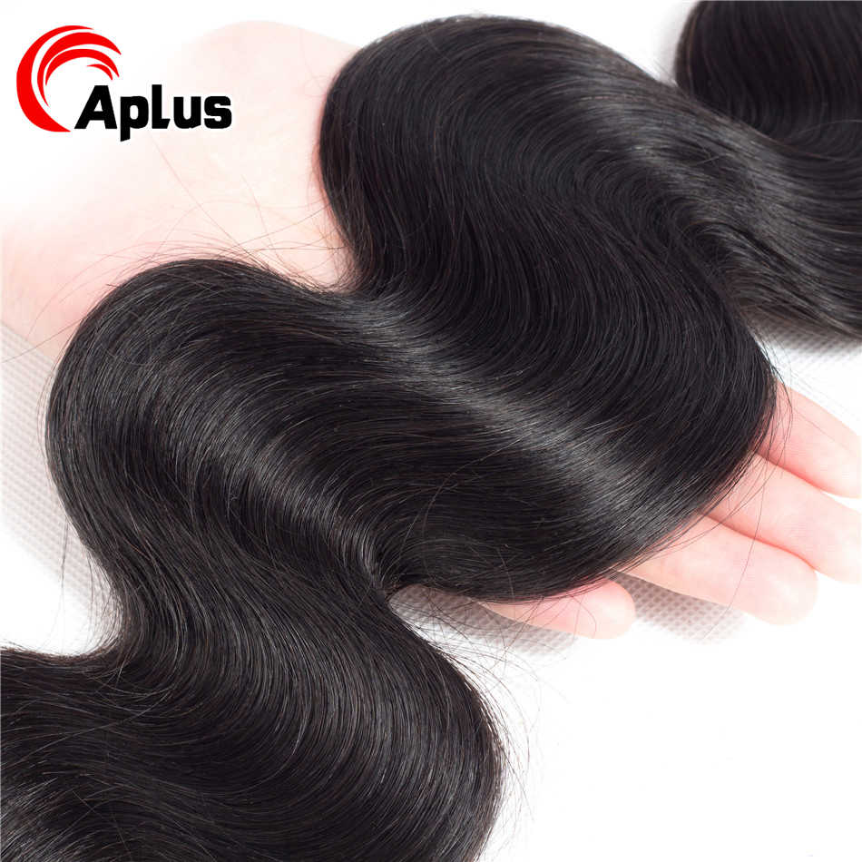 Aplus 100% Human Hair 1 Bundle Brazilian Body Wave Hair Extension 1 Piece/Lot Natural Black Can buy 3/4 bundles or More Non Remy