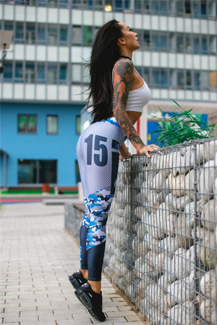 Hot Women Sporting Leggings 3D Printed
