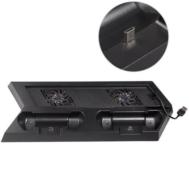 Accesorios Ventilador de La Consola Ps4 Ps4 Juegos Con Construir-En El Controlador de Estación de Carga Del Muelle Del Cargador de 3 Puertos Usb Hub PS23