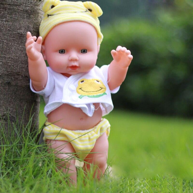 30 см Reborn Baby Doll Мягкие Винилсиликоновых Реалистичные Новорожденного Ребенка Куклы для Девочек День Рождения Chirstmas Подарок Случайный Цвет