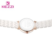 Kezzi Women Quartz Watch Waterproof White Ceramic Watches Luxury Brand Dress Wristwatches Clock For Ladies relogio feminino