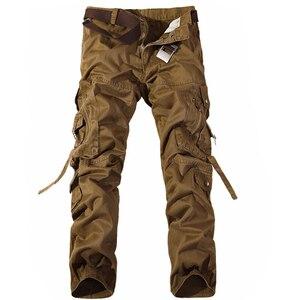 Image 5 - Hommes Cargo pantalon vente chaude grande taille 28 42 marque ample Homme militaire pantalon armée marque vêtements décontracté travail pantalon hommes