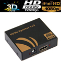 4k 2-port HDMI Splitter 1X2 Distributor box with power adapter 3D&ful HD1080P suported
