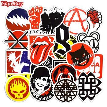 50 Pcs Rock & Roll Aufkleber für Laptop Gepäck Fahrrad Auto Styling Skateboard Motorrad Vinyl Aufkleber Graffiti Punk Coole Aufkleber