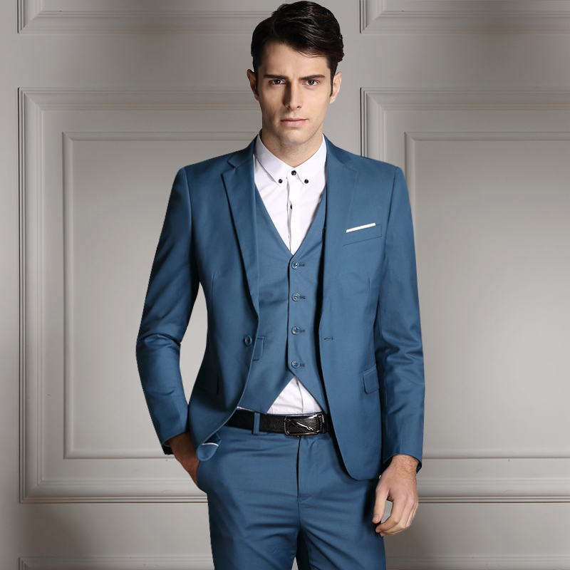 (Giacche + Vest + Pants) tre 2018 Nuovi Abiti Da Uomo sposo indossare Slim  fit Custom Bridegroon Vestito Da Affari Da Sposa rosso Abiti Blazer maschile  in ... 3a286c58127