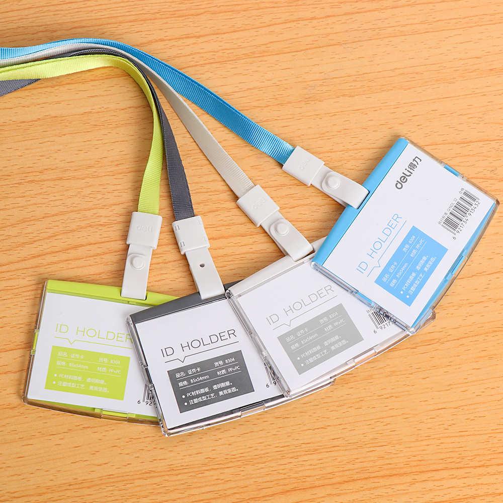 1 قطعة للجنسين حاملي بطاقات العمل مع حبل الموظف اسم بطاقة الهوية غطاء العمل شهادة الهوية شارة حافلة بطاقة واقية قذيفة
