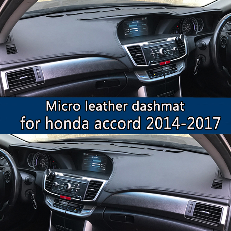 For Honda Accord 9th 2017 Micro Leather Dashmat Dashboard Cover Prevent Sunlight Pads Dash Mat 2016 Lhd Rhd