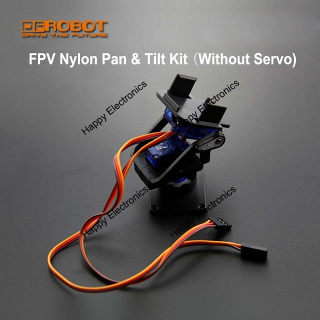DFRobot Original multiple uses DIY Mini FPV Nylon Pan and Tilt Head/PTZ Kit Camera Mount Compatible with SG90 9g servo