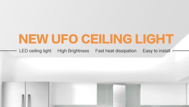 HTB1GT2nbvWG3KVjSZFgq6zTspXat LED Ceiling Light 36W 24W 18W 13W 9W Down Light Surface Mount Panel Lamp 85-265V Modern UFO Lamp For Home Decor Lighting
