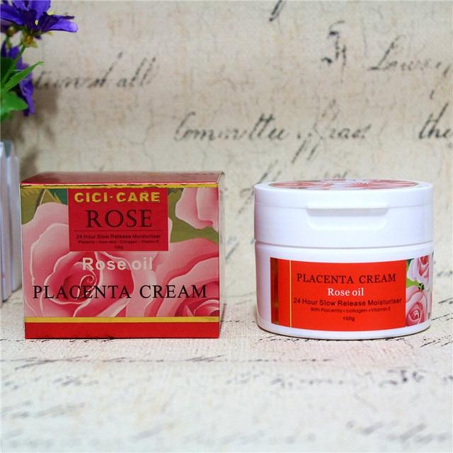 CiciCare Rose Oil Placenta Cream-red, minimize dark spots& discolorations, improve skin radiance &elasticity, smooth skin tone