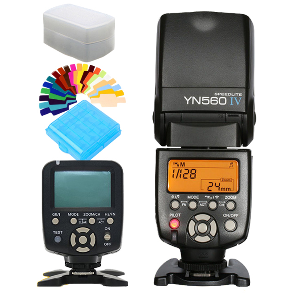 цена на YONGNUO YN560IV YN560 IV Wireless Master Speedlite Flash YN560-IV YN-560IV + YN560TX YN560-TX Flash Controller For Canon Nikon