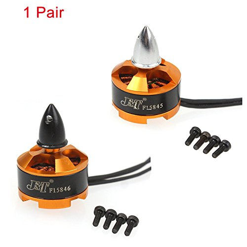 цена на F15845&6 1Pair Mini Multi-rotor 1806 2400KV CW CCW Brushless Motor for DIY 2-3S RC Racing Quadcopter 250 CC3D 260 330 Drone