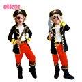 OHCOS niños chicos piratas trajes/trajes de cosplay para niños/cosplay de halloween para niños/niños cosplay de La Muchacha disfraces
