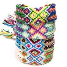 Bohemian Handmade Rainbow Bracelet Lucky Transit Friendship Hand Strap Vintage Adjustable Cotton Rope For Women