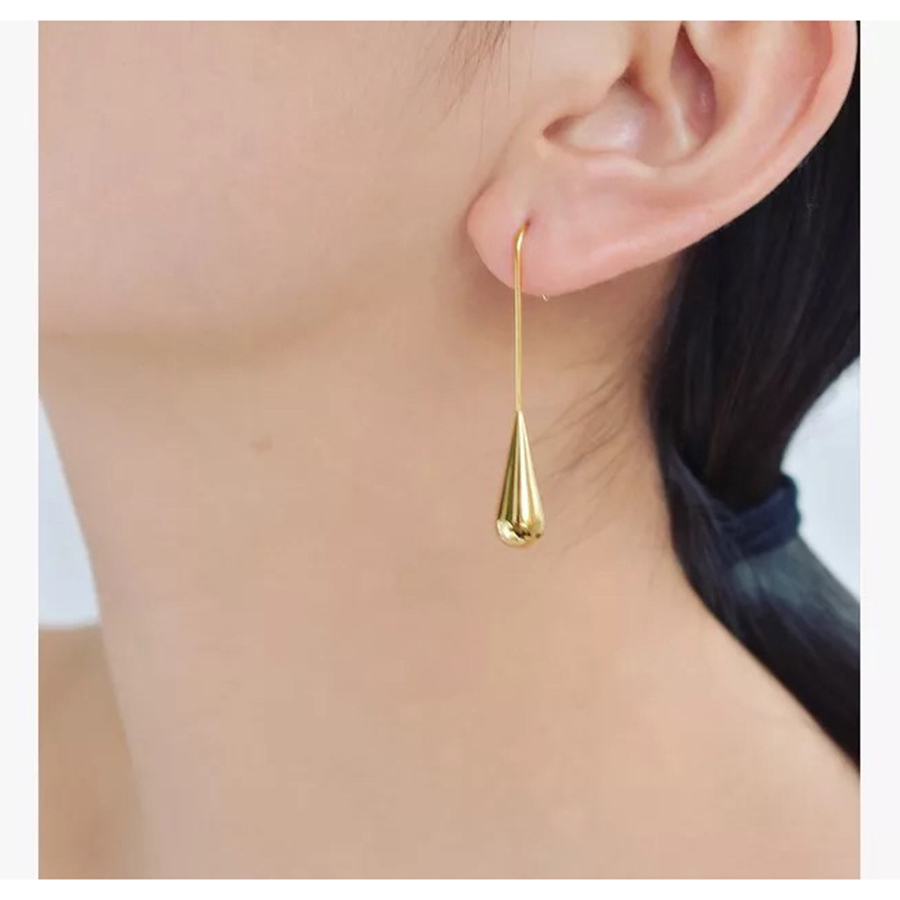 Fashion Brand Designer Classical minimalism Jewelry High Quality Gold Tassel Earring Luxury Bijoux For Ladies Daily School OL
