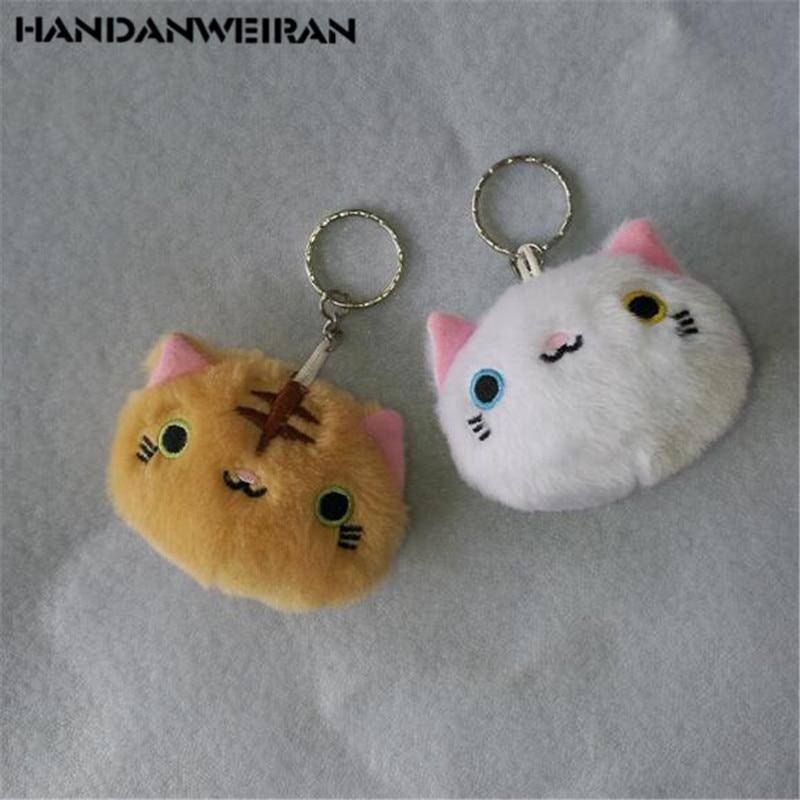 1PCS New Plush Expression Cat Head Toys Small Pendant Cartoon Animal Soft Stuffed Toy For Kids Gifts Hot Sale 7CM HANDANWEIRAN