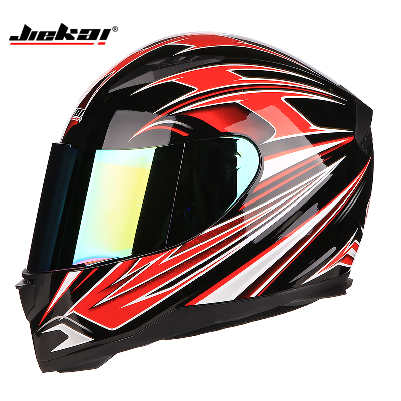 Us 29 35 11 Off 2018 New Arrival Brand Jiekai Full Face Motorcycle Helmet Safety Motorbike Helmet For Man And Woman Rider S Gear In Helmets From
