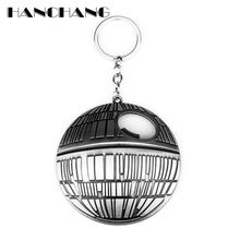 HANCHANG Star Wars Bottle Opener Keychain 2 USE EDC Tools Movie Jewelry Death Star Key Ring Key Chain chaveiro(China)